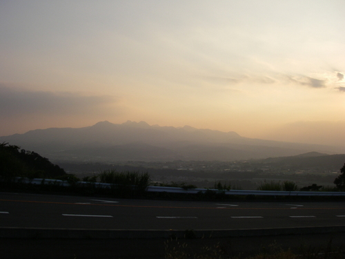 夕霞の水沢