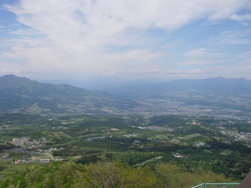 伊香保からの眺望(赤城山北麓)